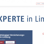 Screenshot Website Startbild